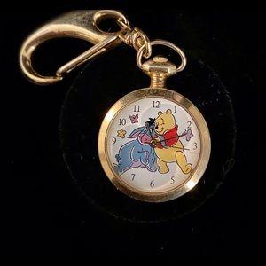 Vintage Winnie The Pooh Key Ring Watch
